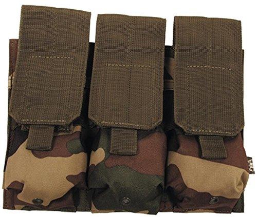 """MFH Magazintasche """"Molle"""" Dreifach Modular-System UBW Army Tasche Munitionstasche 16x16cm viele Farben Woodland"""