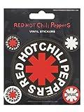 Pyramid International Red Hot Chili Peppers vinyl Aufkleber, Papier, mehrfarbig, 10x 12,5x 1,3cm
