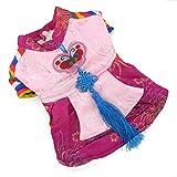 Zunea Hanbok traditionnel pour animal domestique Costume Chien Halloween Costume Manteau polaire d'hiver chaud Vêtements de fête sur le thème, pour petit chien chat chiot