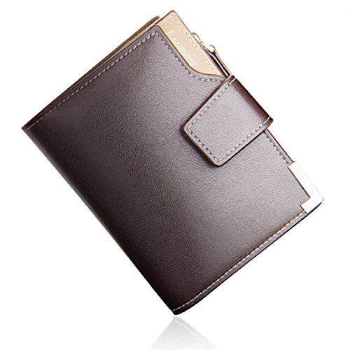 Young & Ming - Portafogli in pell Uomo Male Men Wallet Buckle Design con 13 Card Slots 2 Foto Posizione & 1 Tasca aggiuntiva