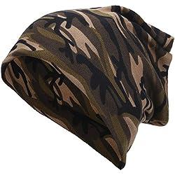 Pañuelo de Cabeza Bufanda Unisexo Gorra de Invierno Caliente Camuflaje ( Color : Light Brown Camouflage )