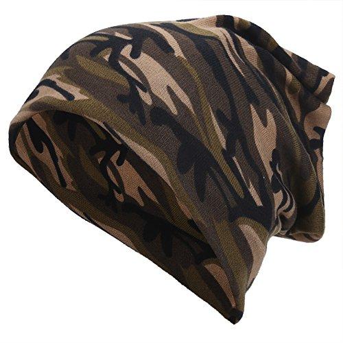 VGEBY Unisex Winter Hut Schal Stirnband Warm Halten Soft Camouflage Hut (Farbe : Light Brown Camouflage) - Camouflage Stirnband