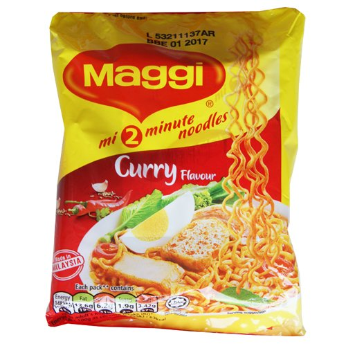Maggi 2 Minute Curry Instant Noodles - 20 x 79g