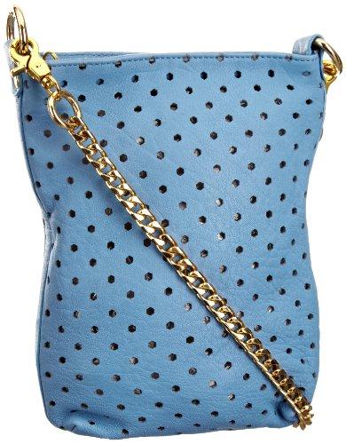 Sienna Ray & Co Pippit Glowing Mini Cross, Sac à main femme Bleu ciel