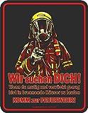 Original RAHMENLOS Blechschild für den Feuerwehr Nachwuchs: wir suchen Dich!