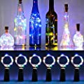 Faburo 8 pcs Wine Bottle Lights with Cork,LED Cork Lights for Bottle Copper Wire Bottle Lights for DIY, Party, Decor, Christmas, Halloween,Wedding(Warm White)