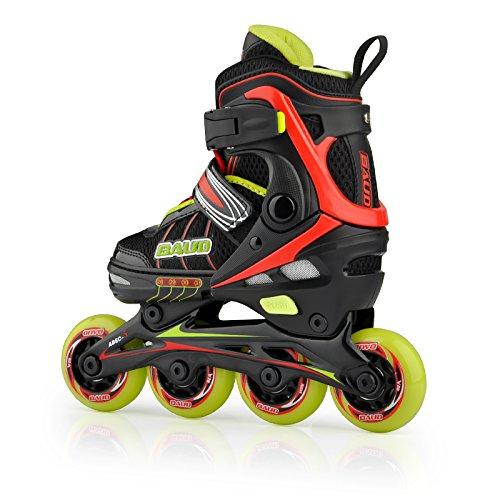 Inlineskates Skateschuhe Rollschuhe einstellbar für Unisex Kinder Größe 28-31 Schuhe Länge 16-18.5cm