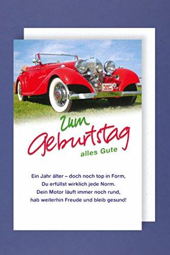AvanCarte GmbH Geburtstag Oldtimer Karte Grußkarte Oldie but Goldie 16x11cm