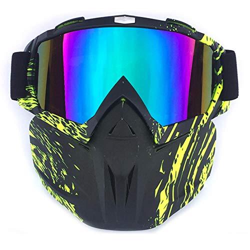 ANSKT Offroad-Brille Motorradbrille UV-Schutz Mehrfarbig