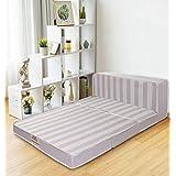 Springtek Folding 4-inch Queen Size Foam Mattress (72 x 60 x 4)