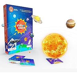 Shifu Space: 4D Juego Educativo de Realidad Aumentada | 60 linternas | Sistema Solar y Espacio Exterior | Stem Juguete para niños y niñas de 5 a 10 años | Ideal Regalo para niños