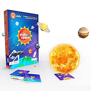 Shifu Space - 60 Solar System, Outer Space, AR Educational 4D Game, Toy Gift for Kids, Age 5 to 10