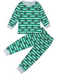 583fc987f TUONROAD Niños Pijama Estampado Ropa de Dormir Manga Larga Pjs 2 Piezas  Mono para niños Edades