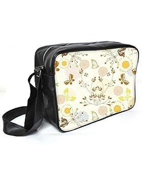 Snoogg Flying Schmetterlinge Leder Unisex Messenger Bag für College Schule täglichen Gebrauch Tasche Material PU