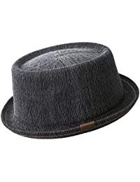 Kangol Indigo Mowbray Pork Pie Hut aus Baumwolle - black wash