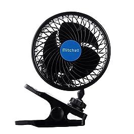 12V con Clip della ventola di raffreddamento del veicolo Auto Potente Ventilatore Calma Fans per l'estate