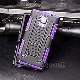 Cocomii Robot Armor Galaxy Note 4 Custodia Nuovo [Robusto] Fondina Clip da Cintura Cavalletto Antiurto Copertura [Militare Difensore] Tutto Il Corpo Case Paraurti for Samsung Galaxy Note 4 (R.Purple)