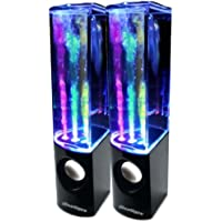 iBoutique ColourJets USB Dancing Fountain Speakers for PC/Mac/MP3 Players/Mobile Phones/Tablets - Jet Black