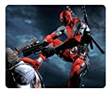 Creative Design Mouse Pad Rectangle Mouse Pad Gaming Mousepad Deadpool Video Game Rectangle Non-Slip Mousepad Water Resistent Oblong Gaming Mouse Pads