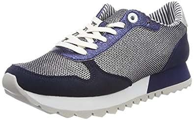 Damen 23668 Sneaker, Grün (Emerald Punch.), 42 EU s.Oliver