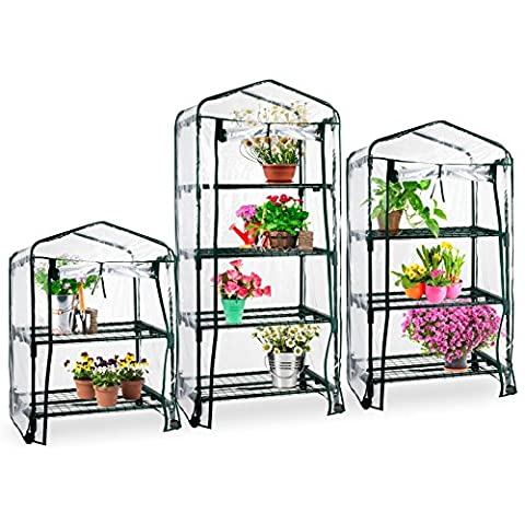 casa pura® Mini Greenhouse Casabella (3 Tier - 68x49x130cm)   Portable Grow Tent, Available in 3