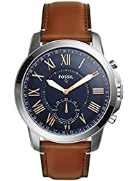 Fossil Hybrid Smartwatch - Q Grant Light Brown Leather – Men's Quartz Wrist Watch with Activity Tracker - Water Resistant