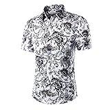 NiSeng Hombres casual camisa de manga corta impresión camisetas