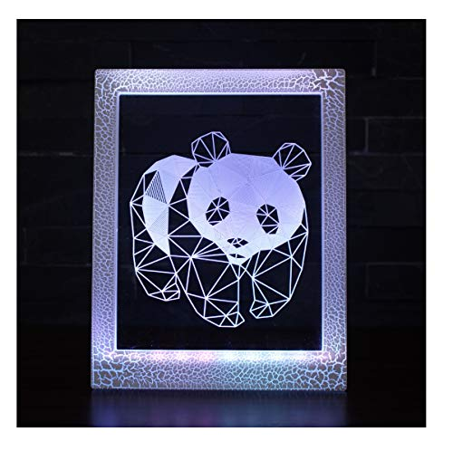 Magic Photo Frame Light, Stimmungslicht, kleine Tischlampe - 7 Farben Magic Light/Panda/Teen Nachttischlampe (Magic Frame Photo)