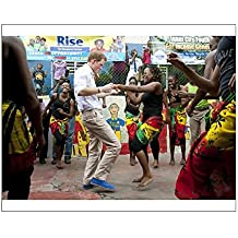 10x8 Print of Prince Harry visit to Jamaica - Day One (10418812)