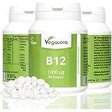 Vitamine B12 1000µg + B6 + Acide folique | 90 Capsules | Méthylcobalamine | 100% végétalien sans additif et gélatine | Remboursement garantie en cas d'insatisfaction | Fabriqué en Allemagne