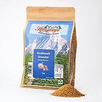 Gránulos de ajo 1kg Producto natural de la India, secado como una especia, cinco veces más concentrado que el ajo secado por el seco, una cucharadita colmada corresponde a un diente de ajo