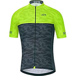 Gore Bike Wear 100029 Maillot, Hombre, Negro/Amarillo Neón (Neon Yellow), XXL