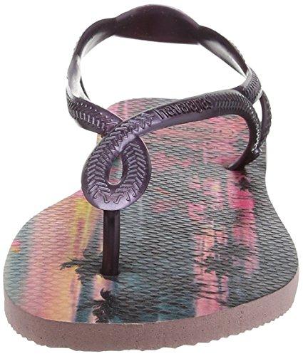 Havaianas Sandalen Damen Luna Print Mehrfarben (Pearl Pink 6615)