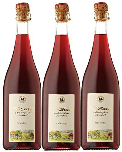 Prisecco alkoholfrei rotfruchtig- Manufaktur Jörg Geiger - 0,75 l - 3er Paket