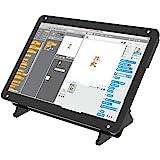 Tragbarer Monitor mit Acrylgehäuse 7-Zoll-Bildschirm - kapazitives IPS-Display 1024 x 600 - Kompatibel mit Raspberry Pi 4, Win10 IOT und Laptops - einstellbarer Winkel (Touch-Funktion)