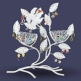 Schmuckständer im Baum Design - Weiß ca. 32 x 30 x 11 cm - Schmuckhalter Aufbewahrung und Präsentation - Grinscard