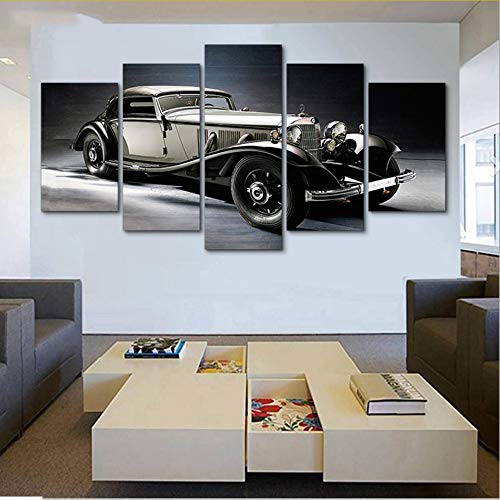 Rureng Hd Dekoration Moderne Leinwand Wohnzimmer Gedruckt 5 PanelOldtimerBilder MalereiWandkunstModulare Poster-20X35 / 45 / 55Cm