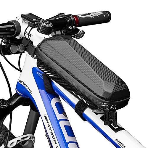 ZLZL Fahrradrahmentasche, Fahrrad-Vorderrad-Oberrohrtasche wasserdichte, Regendichte Fahrradtasche FüR Rennrad-Hartschalen-Beamsatteltaschen-ReitausrüStung