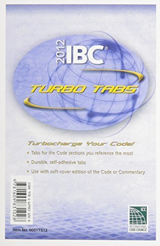 2012 International Building Code Turbo Tabs for Soft Cover Edition (International Code Council Series) by International Code Council (2011-07-12)