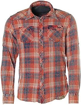 Kitaro - Camisa casual - Clásico - Manga Larga - para hombre