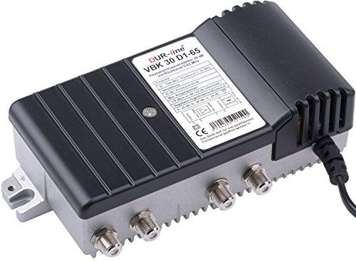 DUR-line VBK 30 D1-65 - Hausanschlussverstärker mit Rückkanal 5-65Mhz - Digitaler Breitband TV Kabel-Verstärker für Kabelfernsehen - Massives Druckgussgehäuse Sat-kabel-verstärker