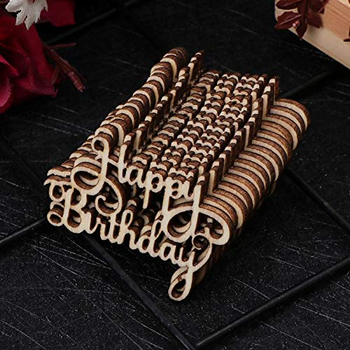 Party DIY Decorations - 15pcs Wooden Happy Bithday Table Confetti Scatter Vintage Rustic Party Decor Craft Scrapbook - Party Decorations Party Decorations Clearluv Birthday Year Balloon Baby