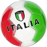 Sport Store Pallone da Calcio Italia con Bandiera Italiana Taglia 5 Colore Verde/Bianco/Rosso – Idea Regalo