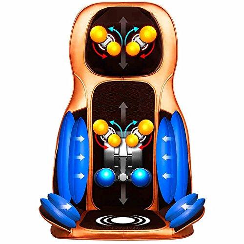 Unbekannt Beste Hausmassage Multifunktions-Massage-Kissen Nacken- und Schulter-Knetmassage, Massage-Rückenlehne, Massagesessel bequeme Verwendung (Farbe : Gold)