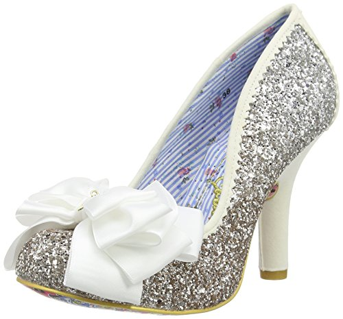 Irregular Choice Ascot, Escarpins femme Multicolore - Multicolor (Silver/Gold)