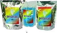 PRISMAT DISHWASHER SET - 2 x 1 Kg Detergent, 1 x 500 ml Rinse Aid, 1 x 1 Kg Salt - PERFECT PERFORMANCE IN ALL DISHWASHERS