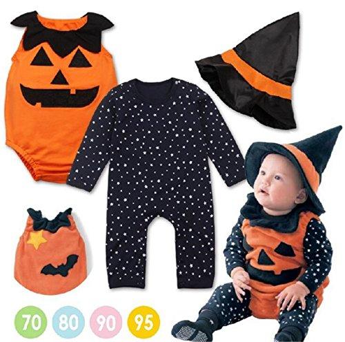 SHUNLIU Kürbiskostüm, Halloween Kostüm, Kürbis Faschingskostüme, Kürbis Karnevalskostüm, für Kinder, Jungen, Mädchen, für Fasching Karneval Fasnacht, auch als Geschenk zum Geburtstag oder (Monster High Kürbis)