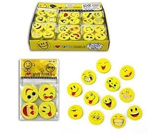 """Gommes """"Smiley"""" 1 Lot de 12"""