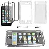 ebestStar - Coque iPhone 3GS, 3G - Coque Rigide Ultra fine crystale polycarbonate + Mini Stylet tactile + 3 Films protection écran, Couleur Transparent [Dimensions PRECISES de votre appareil : 115.5 x 62.1 x 12.3 mm, écran 3.5'']