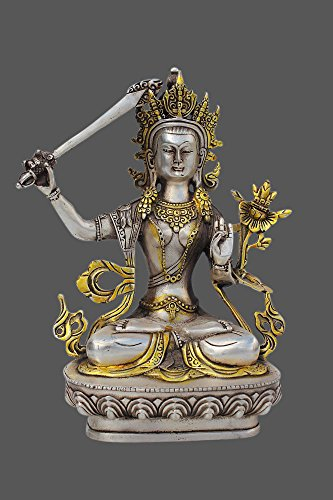 Manjushri-statue (Manjushri Figur - Buddha Statue aus Bronze)
